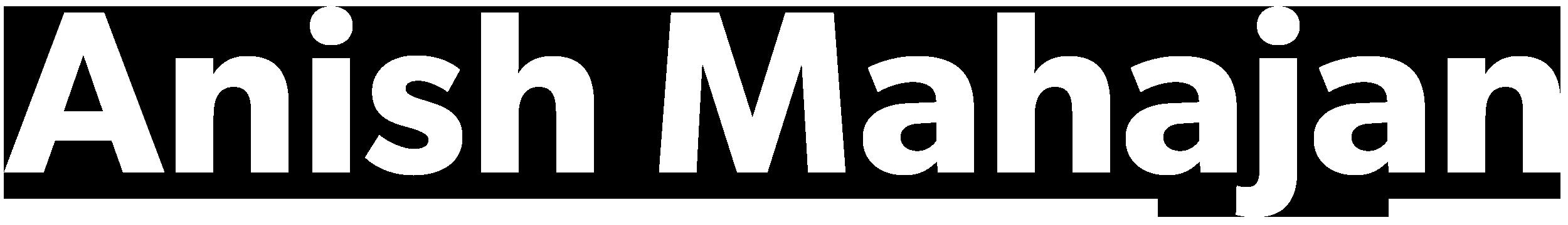 Anish Mahajan Logo